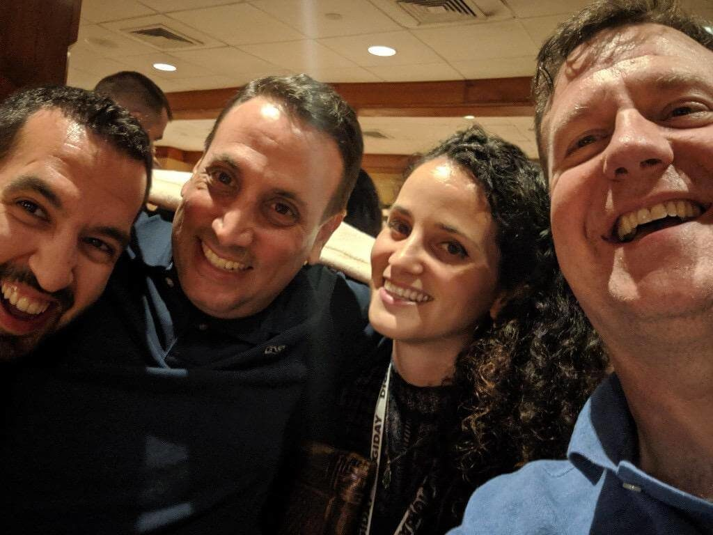 Liat and me with Dan Shar from Dow Jones and Kevin Murphy from DistroScale.