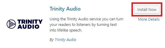 Install now Trinity Audio